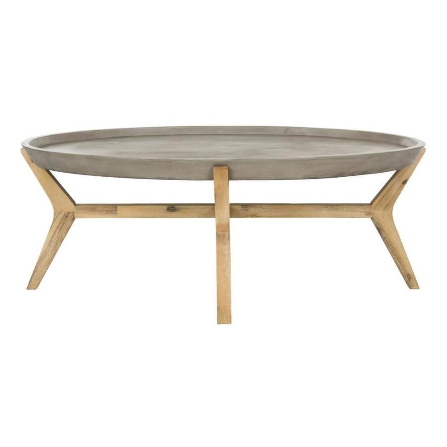Safavieh Hadwin Oval Outdoor Coffee Table 47 3 In W X 31 5 In L With Lowes Com Coffee Table Outdoor Coffee Tables Oval Coffee Tables [ 900 x 900 Pixel ]