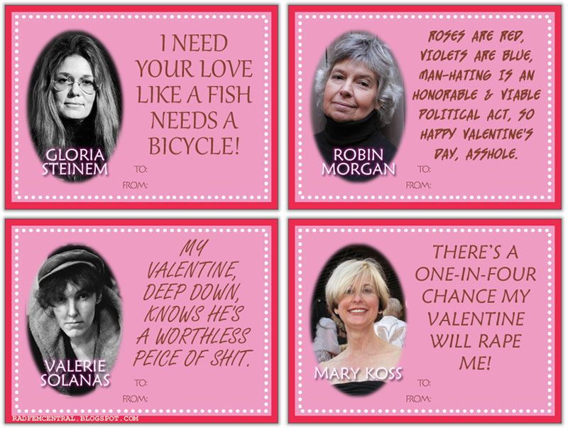 The Angry Feminist Valentineu0027s Day Card Set. Iu0027m REALLY Hoping This Is A