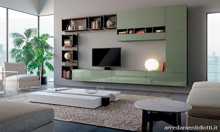 Composizione Soggiorno ~ Composizioni soggiorno con moduli posizionabili a piacere in