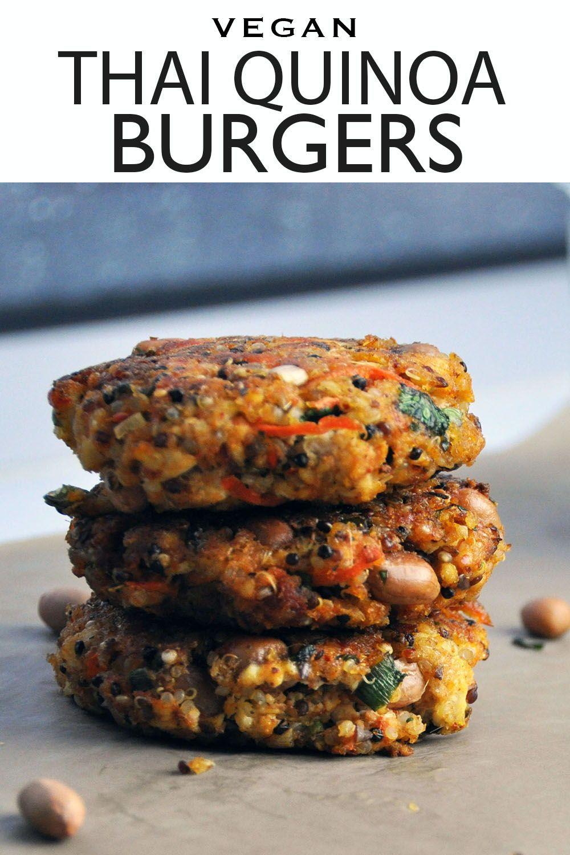 Photo of Thai Quinoa Burgers – Veggiecurean