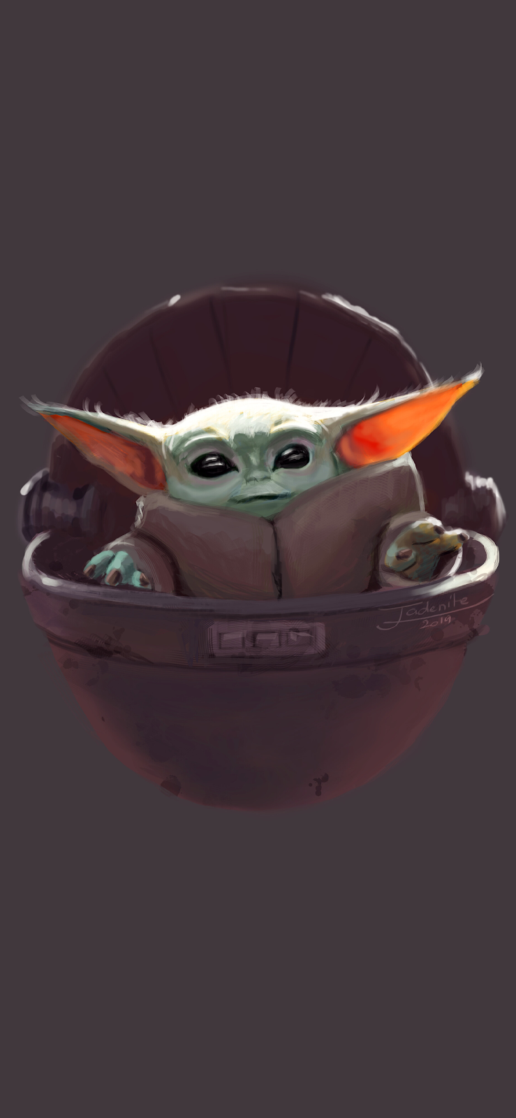 "[WALLPAPERS] The child ""Baby Yoda"" phone wallpaper"