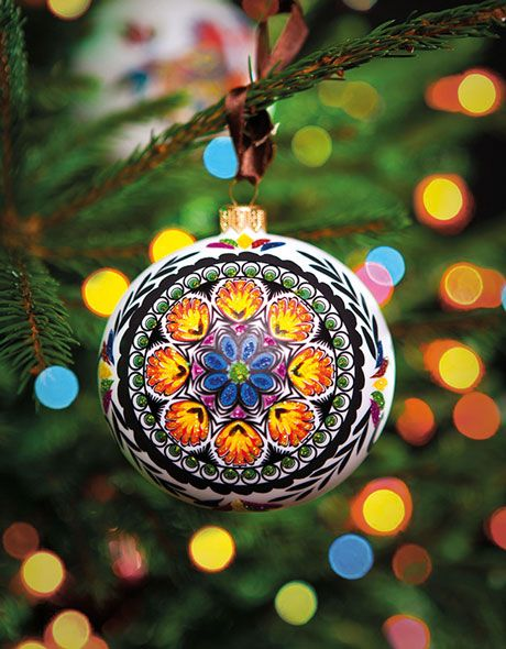 Polish Christmas - Folkstarpl Ornament christmas balls - polish christmas decorations