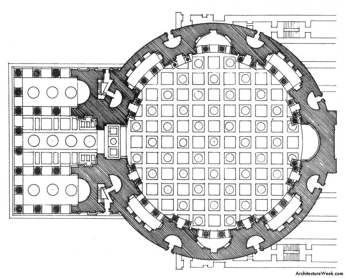 Floor Plan Of The Pantheon