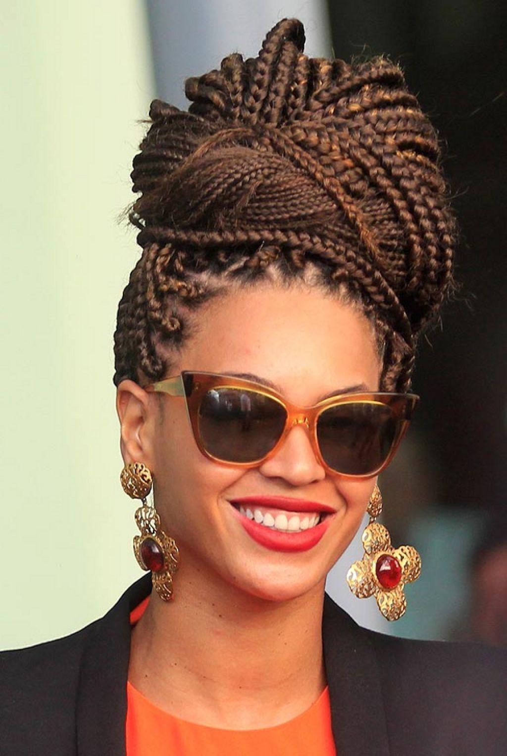Beyonce High Updo Braided Hairstyle 914 Haute Hair Pinterest