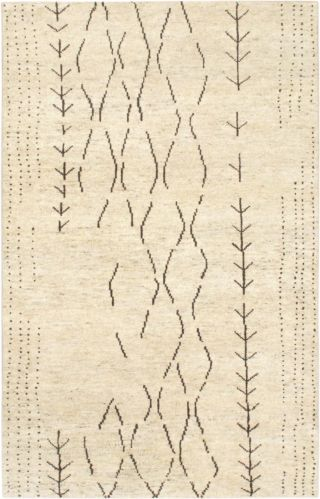"Hand-knotted Carpet 5'0"" x 8'0"" Mystique Gabbeh Tribal Cream Wool Rug"