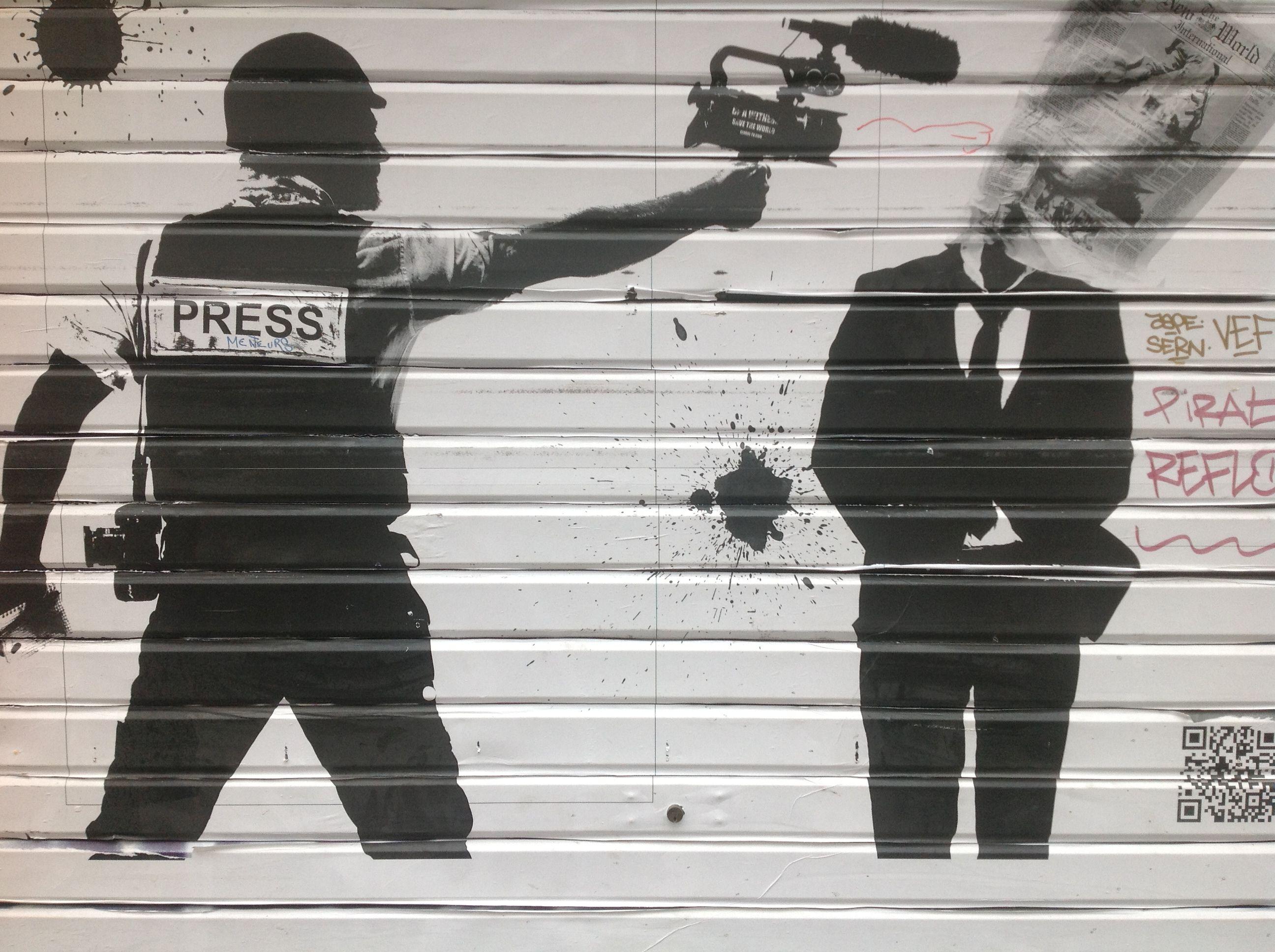 I hope its a banksy street art i have encountered pinterest
