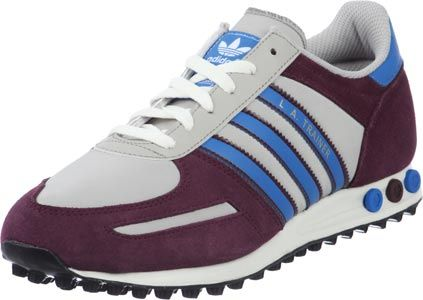Adidas L.A. Trainer Schuhe weinrot grau blau   Sportschuhe