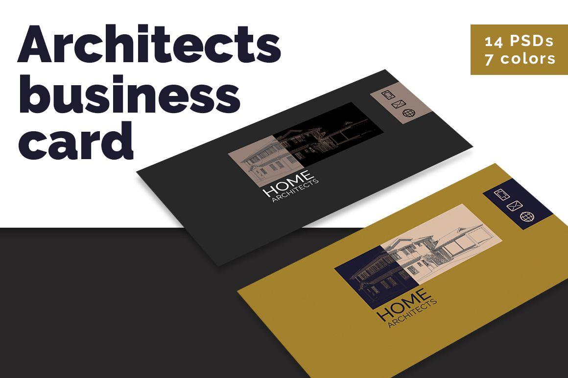Architects minimalist business card MATERIAL BRAND, BRAND IDENTITY ...