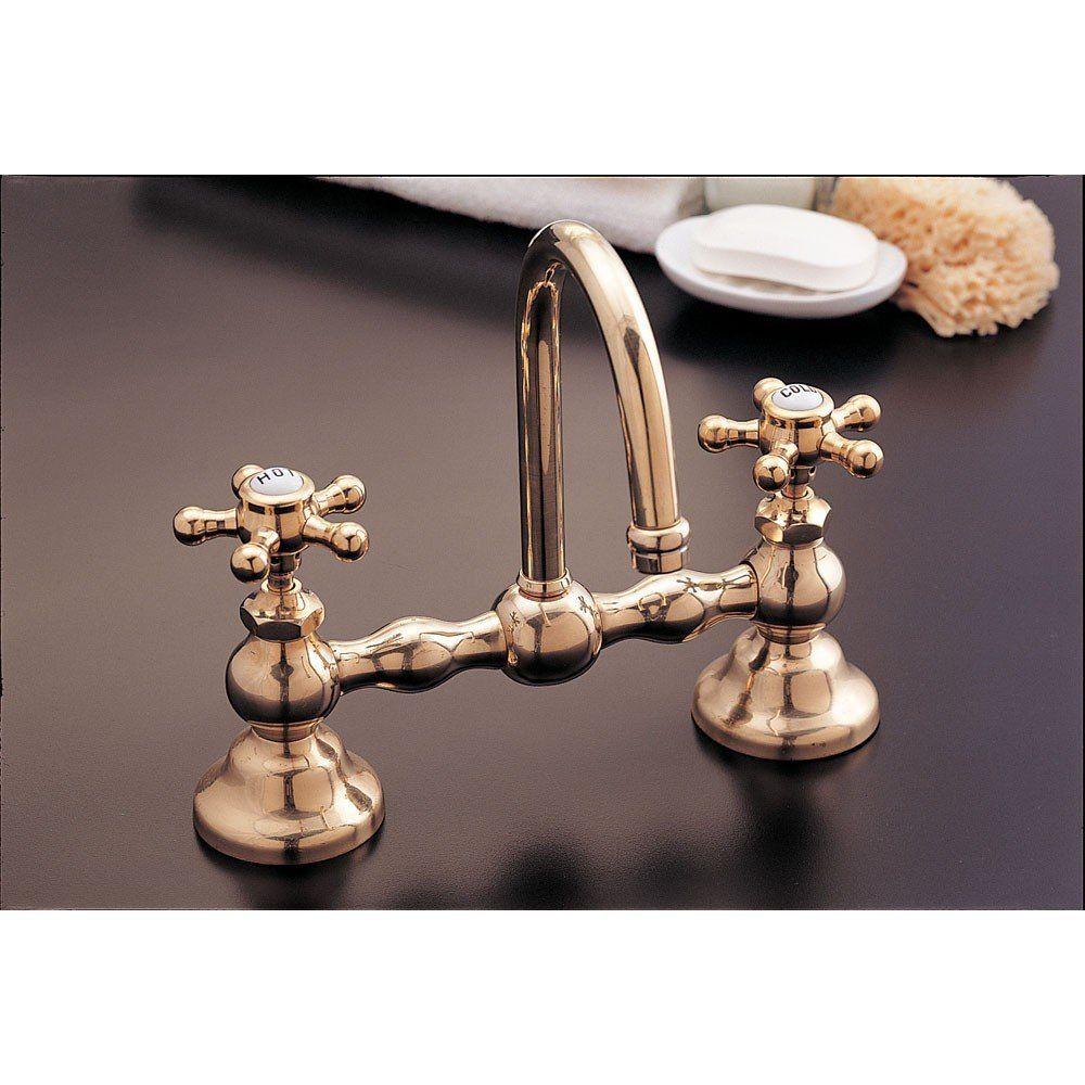 Strom Plumbing Columbia Bridge Style Bathroom Sink Faucet 8 Inch