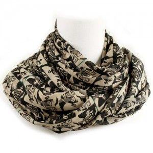Szal Szalik Chusta Vintage Art Patterned Scarves Fashion Fashion Design