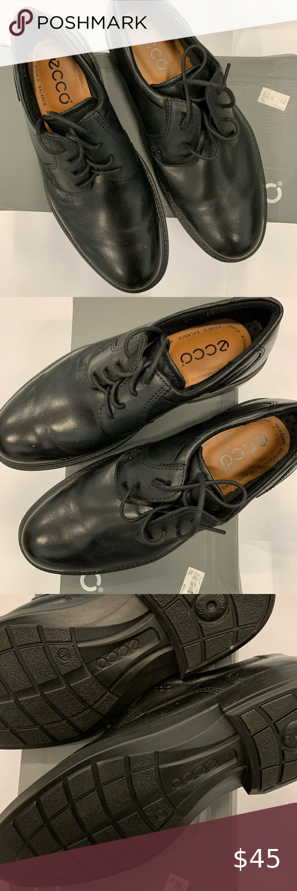Ecco Black Size 43 Like New Shoes in