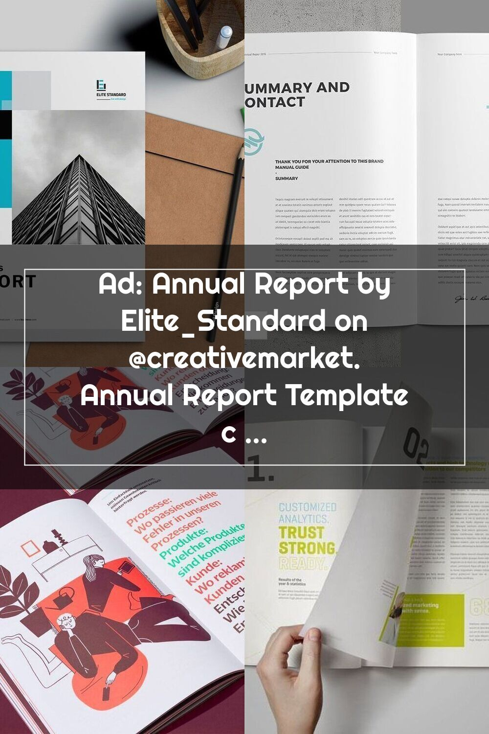 Ad annual report by elite_standard on creativemarket
