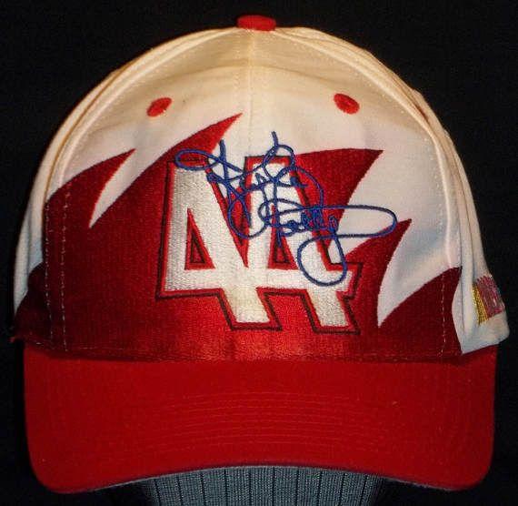 e9fa08efcac Vintage Kyle Petty NASCAR Snapback Hat Red White Racing Dad Hat Logo ...