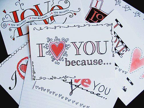 I Love You Index Cards