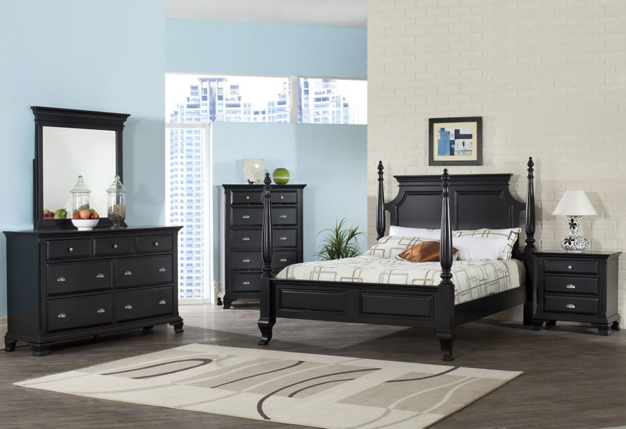 6PC Bedroom Set with a Black Rubbed Finish - King $97799 Bedroom