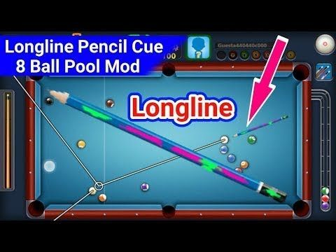 8 Ball Pool Mod Apk Pencil Cue With Unlimited Guideline Latest