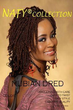 Nafy Collection Natural Nubian Twist Hair Black Beauty Coiffure