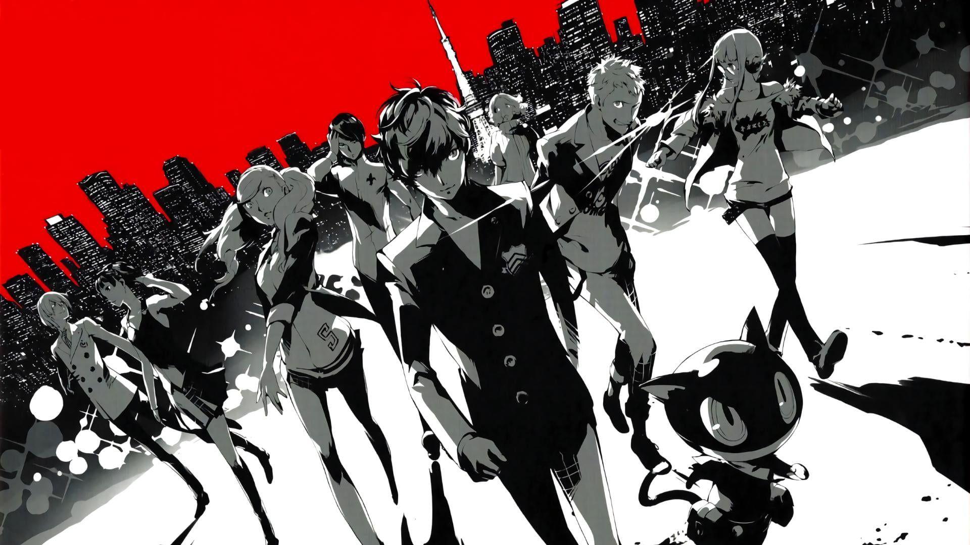 Anime Characters Digital Wallpaper Phantom Thieves Persona Series Persona 5 Protagonist Persona 5 1080p Wallpaper Hdwa Persona 5 Digital Wallpaper Persona