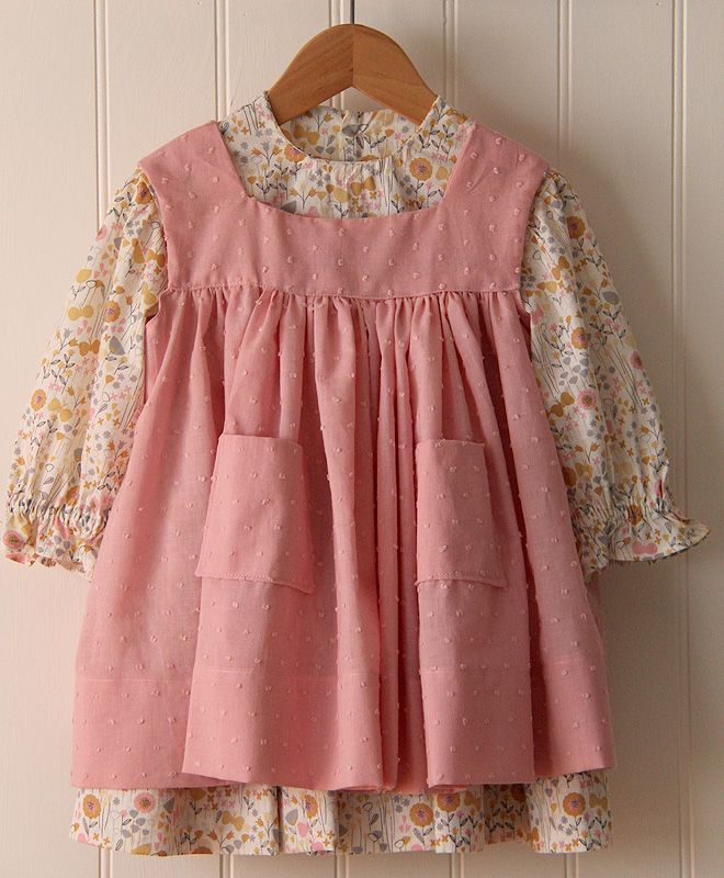 5ee28ab0 LAURA- I love the little pinafore! Elizabeth could have several and wear  them over different little dresses! They look pretty easy to sew too!