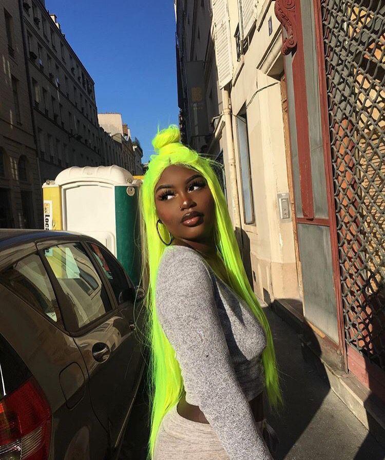 Gracevictoria Neon Green Hair Neon Hair Girl Hair Colors