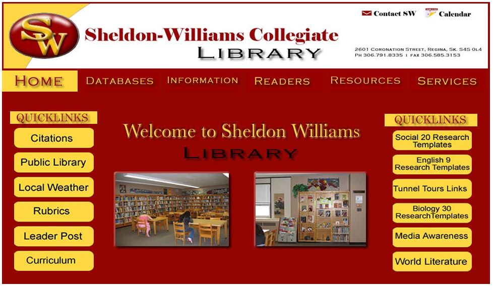 Best Practices In School Library Website Library Website School