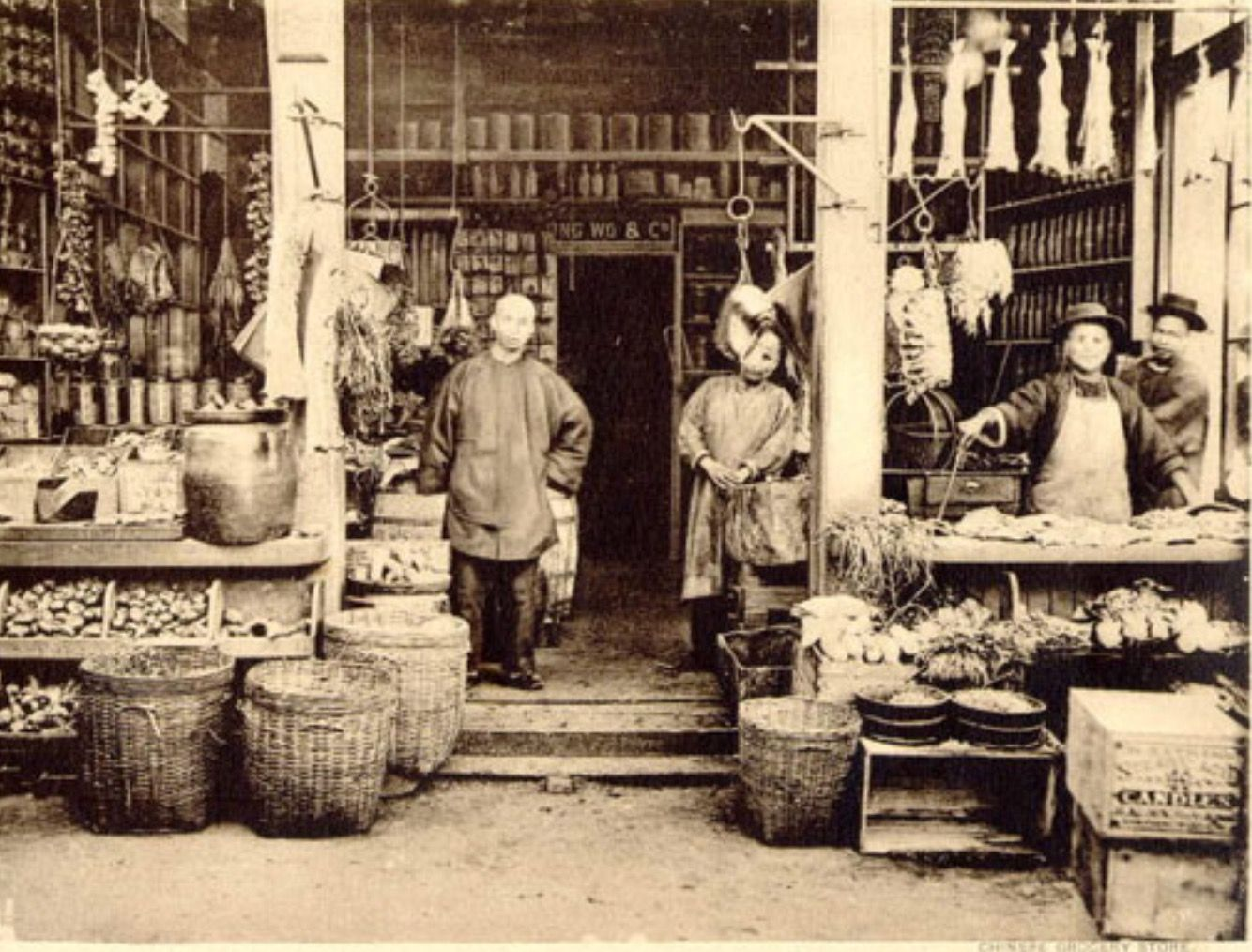 Chinatown chinese owned and operated grocery store 1904 for 1900 asian cuisine