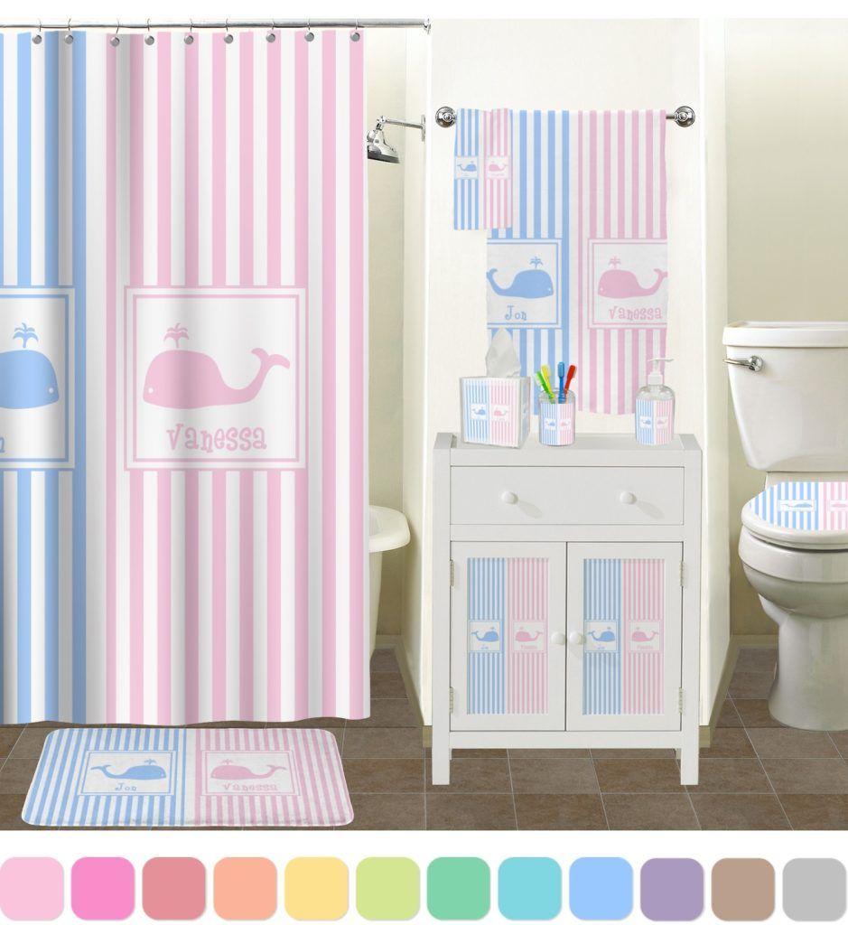 Pink Striped Bathroom Accessories | Bathroom Accessories | Pinterest ...