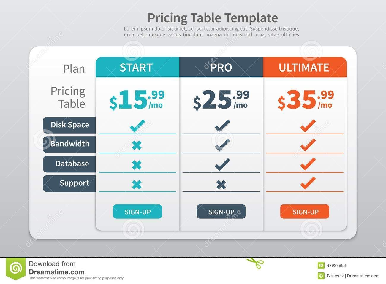 Graphic Table Design  Google Search  Table    Pricing