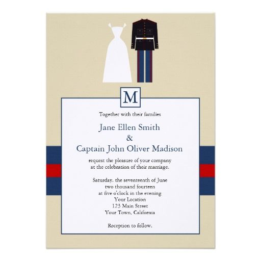 Marine Wedding Invitations Invitation From Zazzle