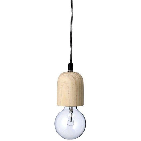Wood Socket Hanging Lamp ($105) ❤ liked on Polyvore featuring home, lighting, wood lighting, handmade lamps, wood lamp, handmade wooden lamps and wooden lamps