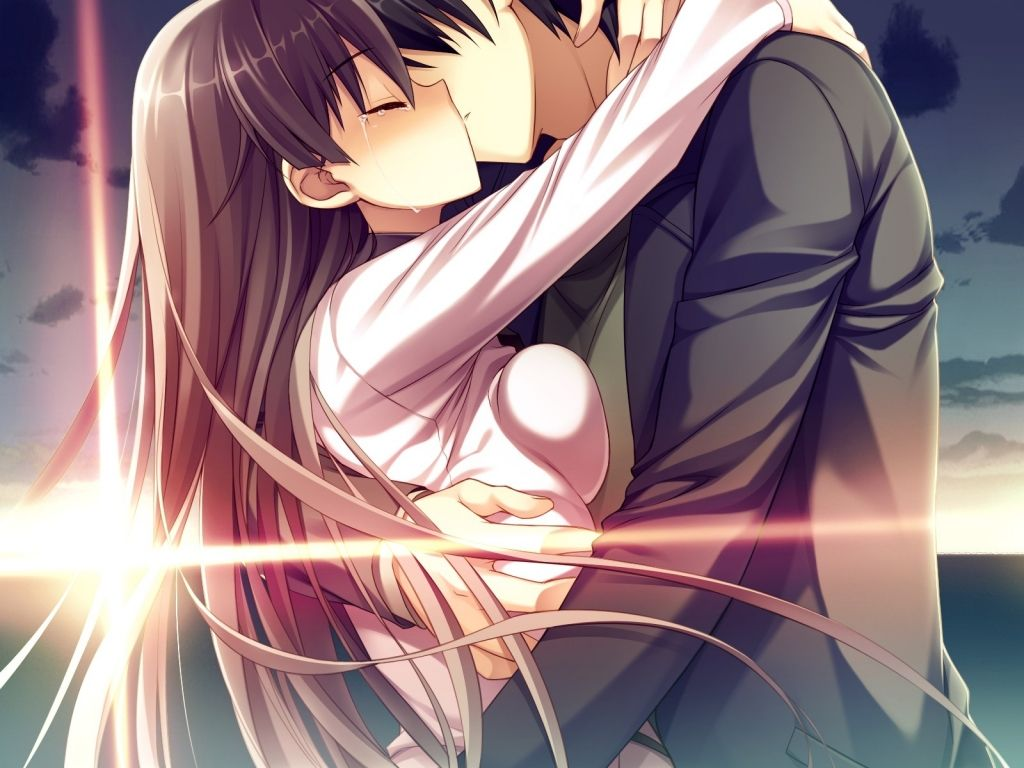 Romantic Anime Kiss