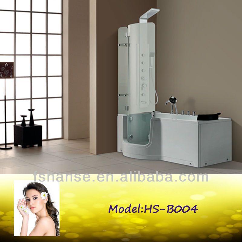 Hs-b1106b Small Corner Bath Combo Walk In Bathtub With Shower - Buy ...