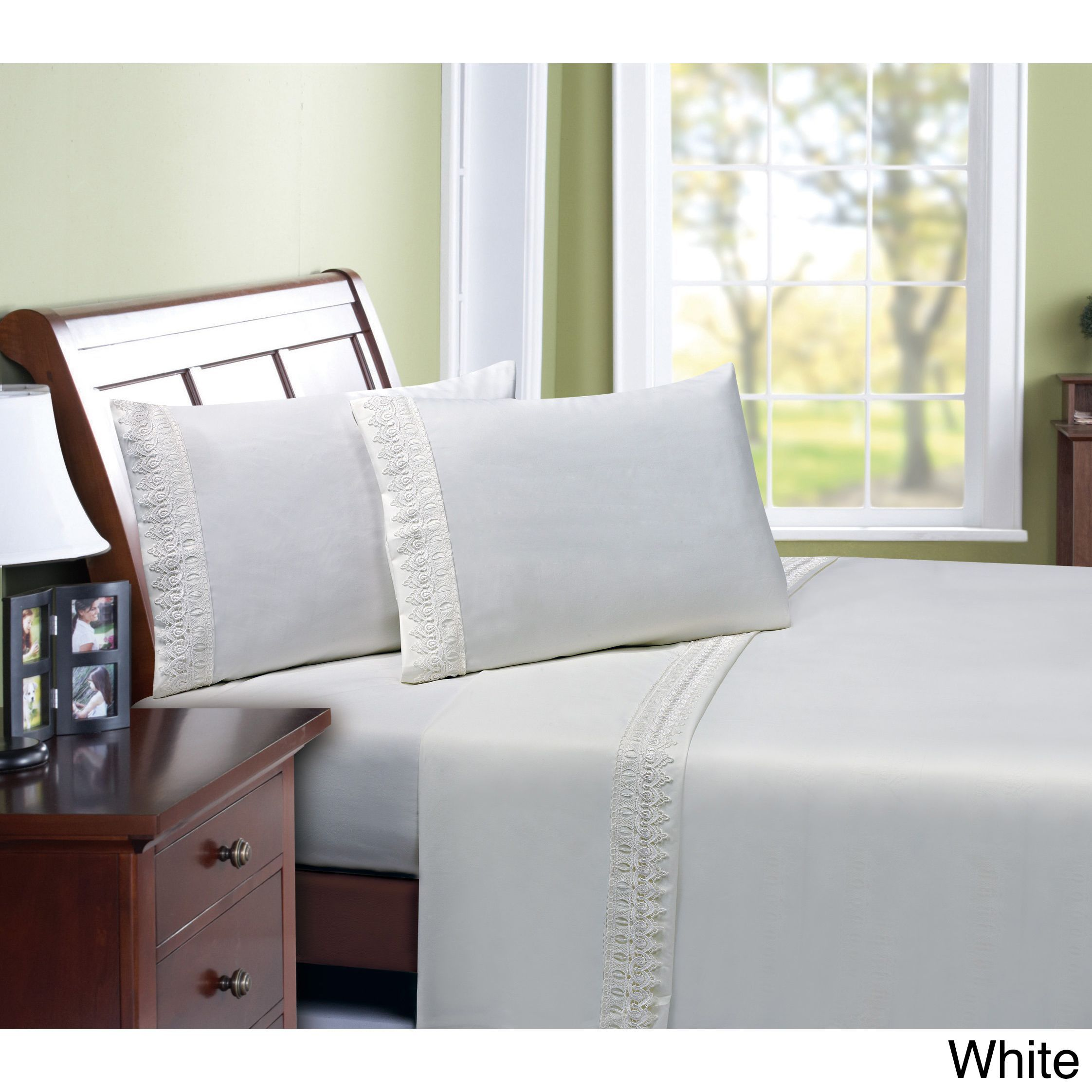 4-piece Ultra-soft Venician Lace Sheet Set