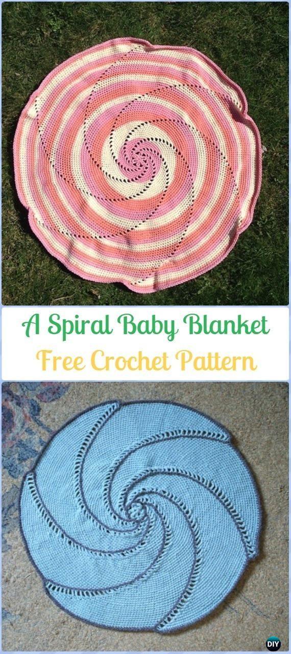 Crochet A Spiral Baby Blanket Free Pattern Crochet Circle Blanket
