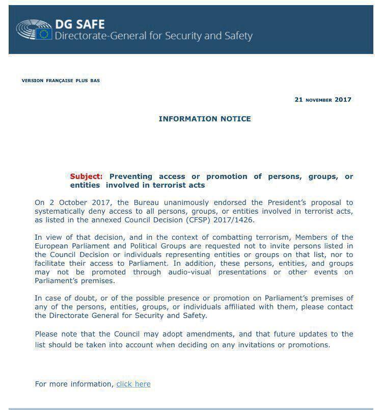 RT @UETD: Ein wichtiger Schritt in die richtige Richtung.Die EU verbietet Werbung für Terrororga.und den Zugang in die Einrichtungen des Europäischen Parlaments für Terrorsympathisanten&-unterstützern!Ähnlich konsequent sollten auch die Nationalversammlungen der EU-Mitgliedstaaten vorgehen https://t.co/KdwtwARNa9