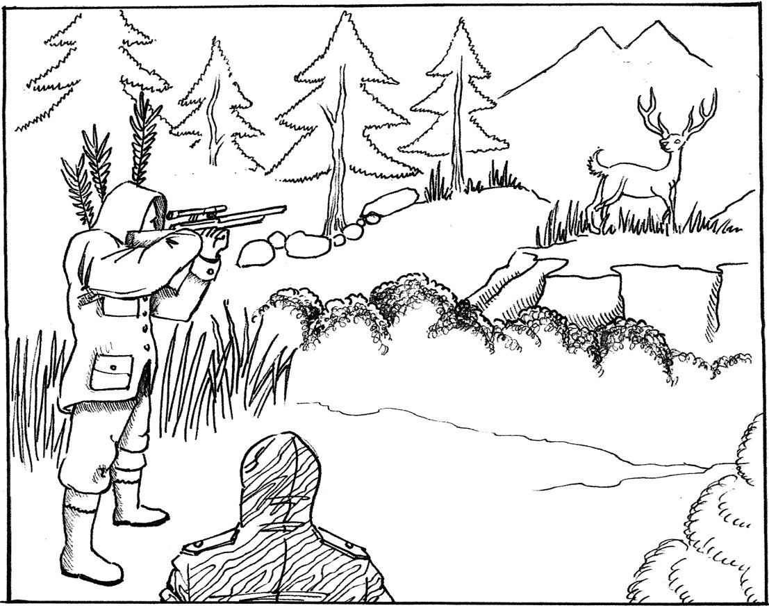 Deer Hunting Pictures To Color Bear coloring pages