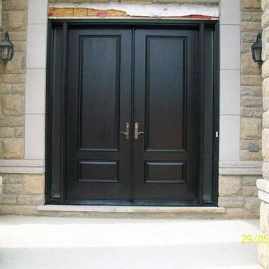 Entry Executive Fibergl 8 Foot Double Solid Parliament Front Doors With 2 Slim Side Lihghtulti Point Locks Installed In Custom Hom