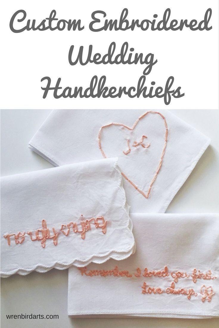 Meaningful wedding handkerchief favors, wedding party, bridesmaid ...