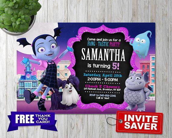 Vampirina Invitación Invitación Cumpleaños Vampirina