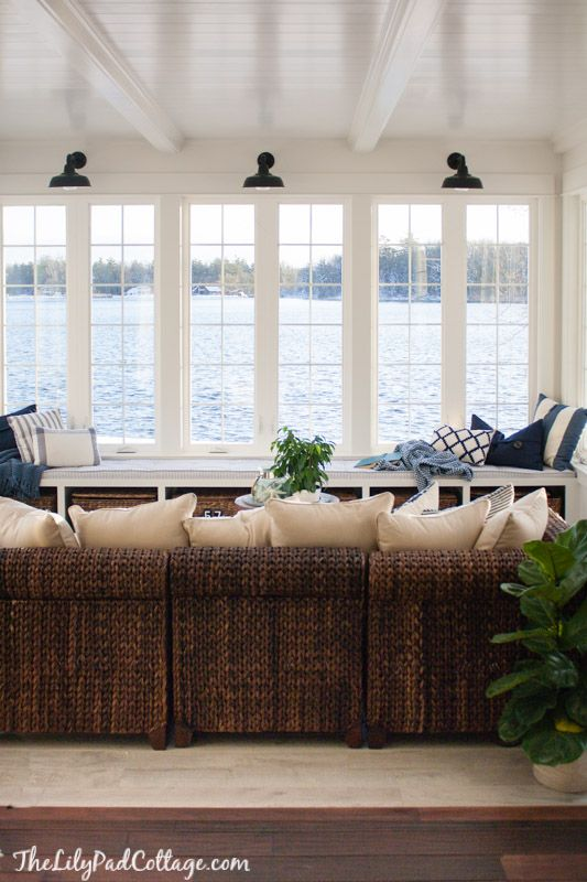 Lake House Sunroom It S Done Home Lilypad Cottages House