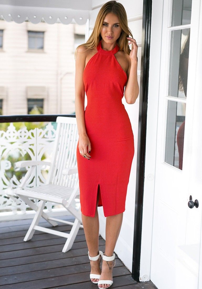 Red halter neck dress for the wife signature pieces pinterest