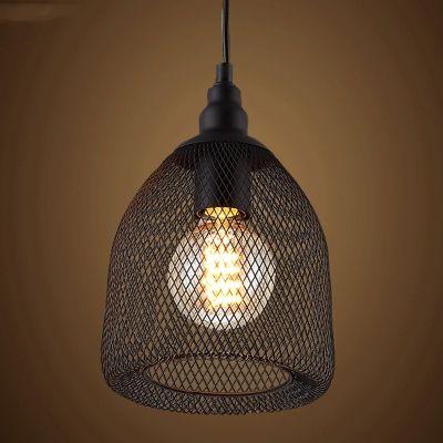 Vintage Black Industrial Rustic Metal Mesh Pendant Light Ceiling Lamp Shade Ceiling Pendant Lights Pendant Light Led Pendant Lights