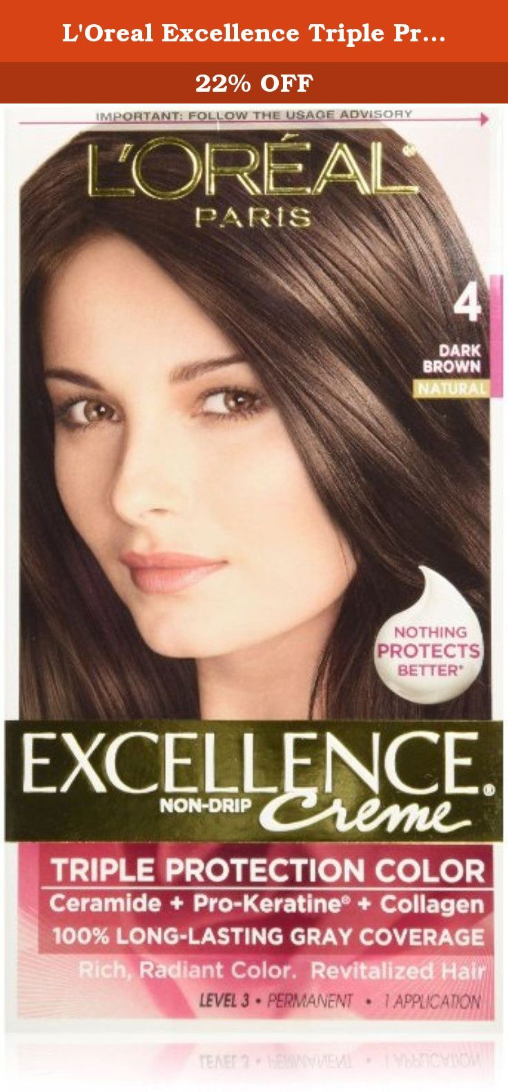 L Oreal Excellence Triple Protection Color Creme Dark Brown