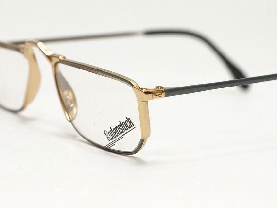 Vintage RODENSTOCK reading glasses frame | gold metal reader | half ...