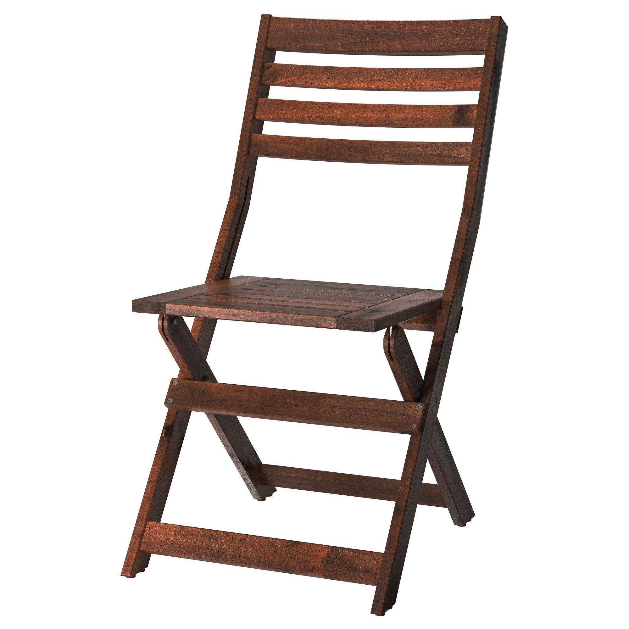 Folding Chair Ikea Massage Repair Service Technician Applaro Outdoor Brown Foldable Stained I Think My Dad Could Make Some Of These
