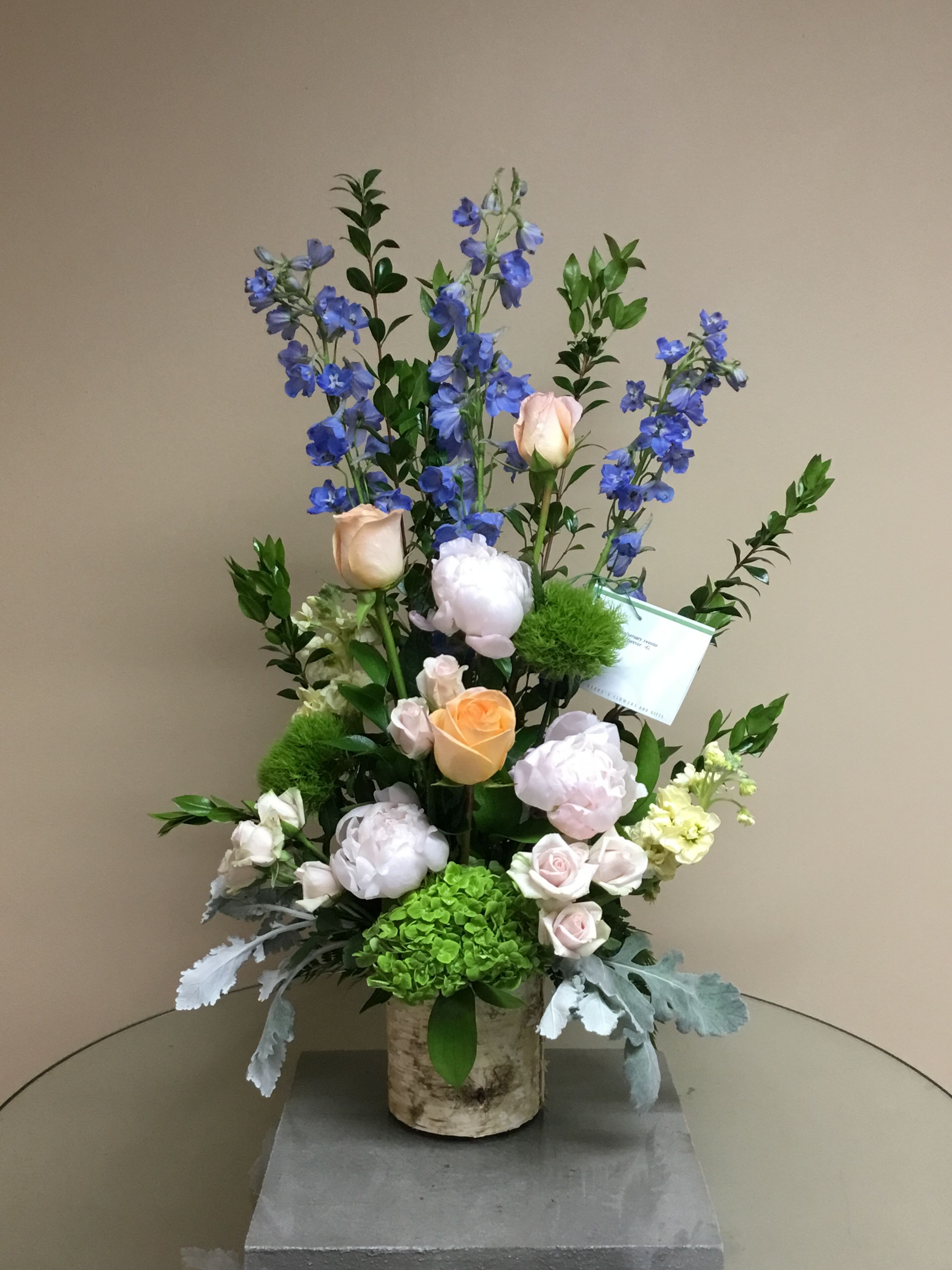 Beautiful Arrangement Using Our Locally Grown Peonies #Localflorist #Indy