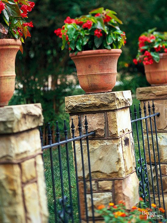 Decorative Fence Ideas Outside Ideas Fence Stone