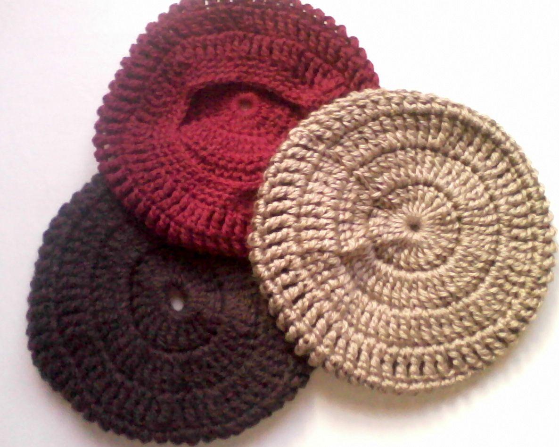 Creaciones Verde Mar  Boinas a crochet con instrucciones  a023c0eb965