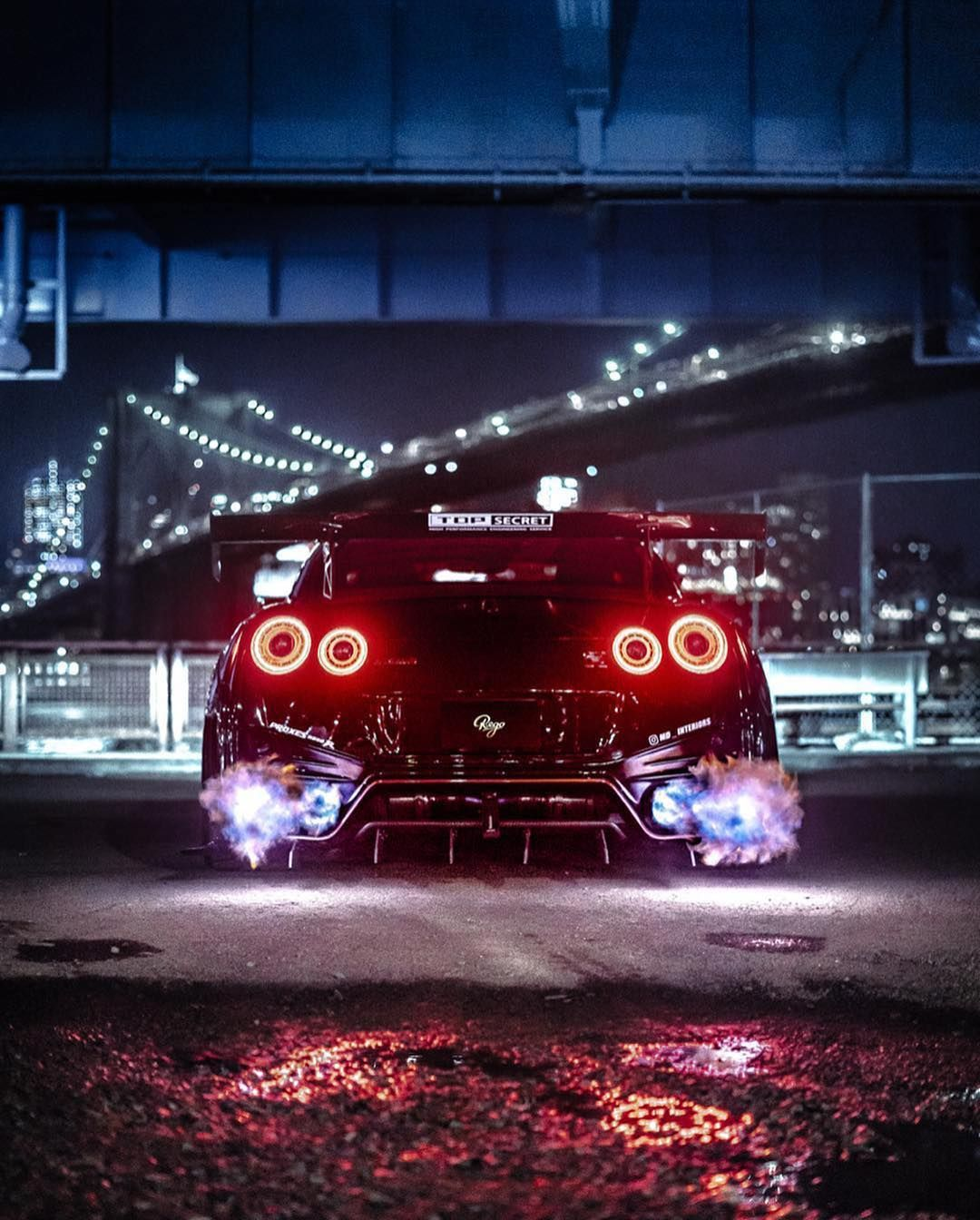 Fire breathing GTR. 🔥💥 Photo / Video r.ego carlifestyle