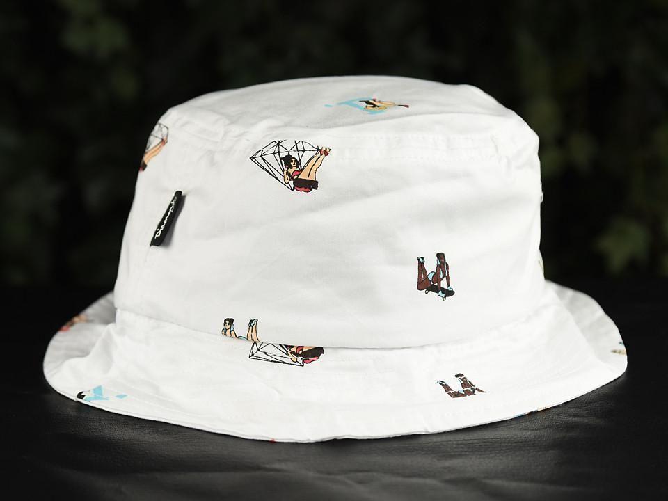 a5c05fea416eb Diamond Supply Co. Pin Up Bucket Hat  B16DMHH04-WHT